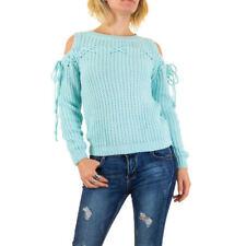Grobe taillenlange Damen-Pullover & -Strickware mit L