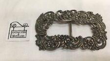 BOUCLE CEINTURE ANCIENNE DÉCOR FLORAL- ARGENT MASSIF STERLING SILVER - REF31105