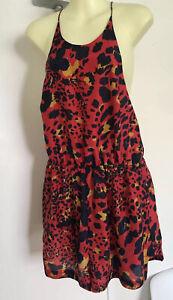 ZIMMERMANN playsuit romper Red leopard SZ 2/M Maculate silk Cheetah Animal Print