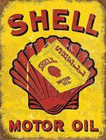 Shell Motor Oil Garage Retro metal wall  Sign vintage garage mancave