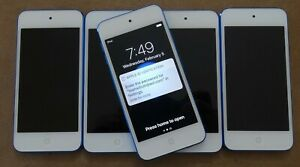 LOCKED Apple iPod Touch 6th Generation (MKH22LL/A) (A1574) - Blue - Set of 5