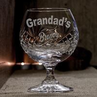 Grandad's Brandy Engraved Crystal Glass Ideal Christmas / Birthday Gift Present