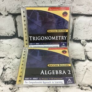 Success Builder Education PC Software Lot Of 2 Algebra 2 And Trigonometry