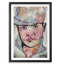 DJ Qbert Signed & #/40 Ltd Ed. Print by Ben Frost, Denial, and DJ Q-Bert W/ COA