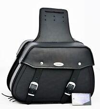 MOTORBIKE SADDLE BAGS 100% LEATHER, BLACK, BRAND NEW, PL2663
