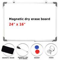 Office Single Side Magnetic Whiteboard Eraser Marker Pen 24x16 Dry-Erase w/Board