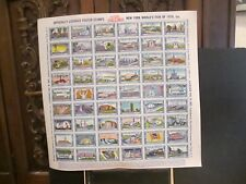 U.S. N.Y. Worlds Fair of 1939 Officially Licensed Poster Stamps MNH Never Folded