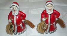 Vintage Set Of 2 1975 Goebel W. Germany Santa Claus Figurine Sack Broom 44350-09