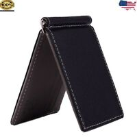 a1a8aaa933fa Slim Thin Men Leather Wallet Money Clip Credit Card ID Holder Front Pocket