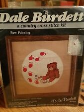 dale burdett cross stitch kit paw painting