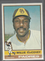 WILLIE McCOVEY 1976 Topps #520 Error Variation Oddball Major Ink Blot in Name