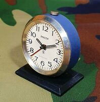VINTAGE RAKETA MINI ALARM CLOCK 5cm. USSR SOVIET ERA