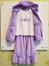 Baby Togs 3 pcs Set Purple Track Suit Pants Long Sleeved Top Jacket Size 3T