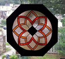 **BEAUTY in TRADITION**  Lg. Stained Glass Window Panel (Signed and Dated)