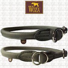 WOZA Premium Hundehalsband Vollleder Lederhalsband Rindnappaleder Collar C23005