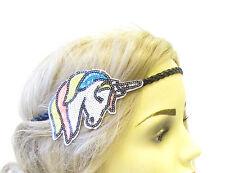 White Black Sequin Unicorn Headband Hair Band Headpiece Festival Boho Blue 1585