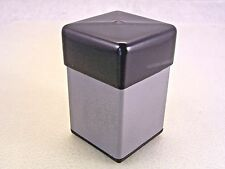 """BLACK VINYL PVC Square Cap covers the end of a 1-1/2"""" Square Tube"""