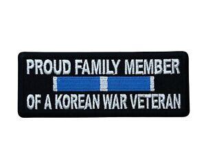 Proud Family Member Korean War Veteran 4 inch Patch IV6642 F2D31B