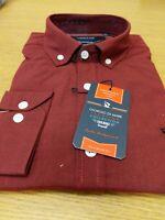 Giorgio Di Mare Reg Fit Pomegranate Black Mens Shirt Size Large Ref HVR