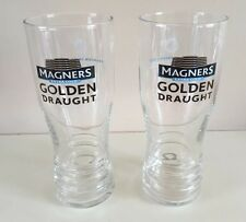 NEW 2 X  MAGNERS CIDER GOLDEN DRAUGHT PINT GLASSES CE MARKED