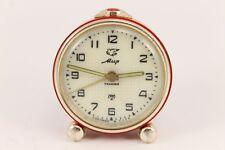 1959 Vintage Russian MIR Alarm Clock Pigeon 11 Jewels USSR