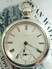 1880 WALTHAM 18s MODEL 1877 PS BARTLETT 15 JEWEL KW KS POCKET WATCH KEEPS TIME