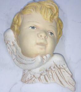 "7"" Vintage  Angel Cherub Head  Wall Hanging  Mount  Bust Figurines"