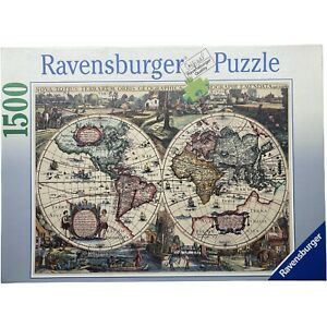 Ravensburger Historic World Map 1636 Jigsaw Puzzle 1500 Pieces 162116 Complete
