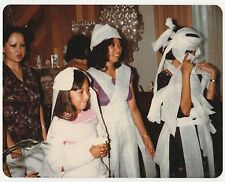 Vintage 70s PHOTO Young Girls Wrapped In Toilet Paper Shower Game
