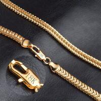 Chaîne à maillons cubaine en chaîne plaquée or 18 carats avec chaîne collier