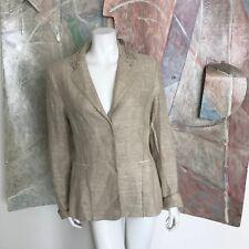27 54 Due divisori Pantaloni vestito costume Taupe//Bianco Mis