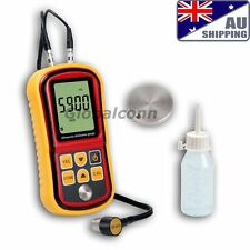 AU Ship Ultrasonic Thickness Meter Tester Gauge Velocity 1.2~225mm Metal GM-100