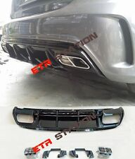 A45  Facelift AMG Style Rear Bumper Diffuser Kit For Mercedes A Class W176
