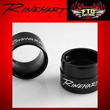 "Rinehart Racing Exhaust 2.5"" Standard End Caps Black (pair) HD Touring"