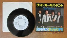 THE KNACK - GOOD GIRLS DON'T, FRUSTRATED - JAPANESE 45 WITH PHOTO