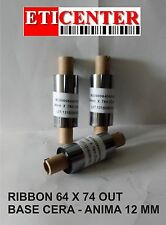 RIBBON NASTRI CARBONGRAFICI 64X74 OUT WAX CERA PREMIUM INTERMEC ZEBRA TSC
