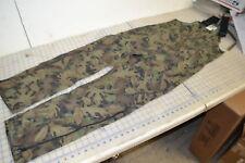 kamo tru-leaf US made small reg bibs 55 cotton 45 poly green overalls suspenders