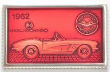 Corvette 1962 ~ 1.1 troy oz .925 Silver Enamel Bar + Card ~ Rare Collectible