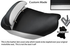 WHITE & BLACK CUSTOM FITS PIAGGIO HEXAGON 125 DUAL LEATHER SEAT COVER