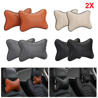 2PCS Car Seat Head Neck Rest Relieve Cushion Chair Support Pillow Headrest