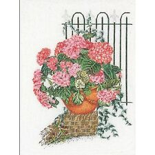 Thea Gouverneur  2036  Hortensia rose  Lin  Kit  Point de croix  Compté