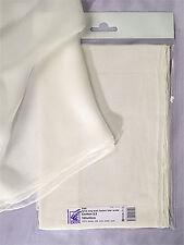 Natural White Chiffon Gauze Silk Scarf / Shawl  90 x 90 - Nuno felting, dyeing