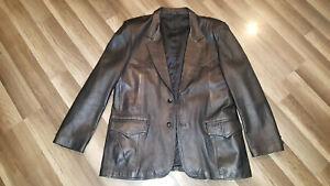VTG Men's Pioneer Wear size 44L 100% lambskin leather blazer style jacket