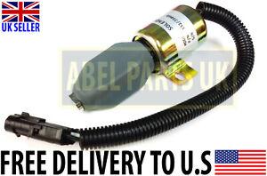 JCB PARTS -- EXCAVATOR ENGINE STOP SOLENOID (PART NO. 332/J5060 OR 716/30091)