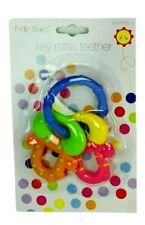 Colourful Key Rattle Teethers Easy to Hold and Chew Perfect Sore Gums