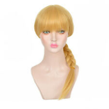 Pig tail Trendy Light Blonde Big Braids updo Synthetic Hair Long Party wig Wigs