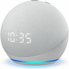 Amazon Echo Dot (4th Gen) with Clock Smart Speaker With Amazon Alexa White