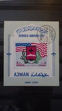 1x Bloc Sheet AJMAN World jamboree Idaho USA imperf. Cachet 1971 MNH**