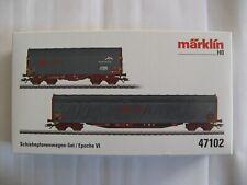 Marklin coffret 2 wagons baché Ermewa