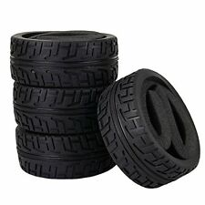 4pcs Black Rubber Tyre with Sponge Inset for 1/8 Scale RC Off Road Car
